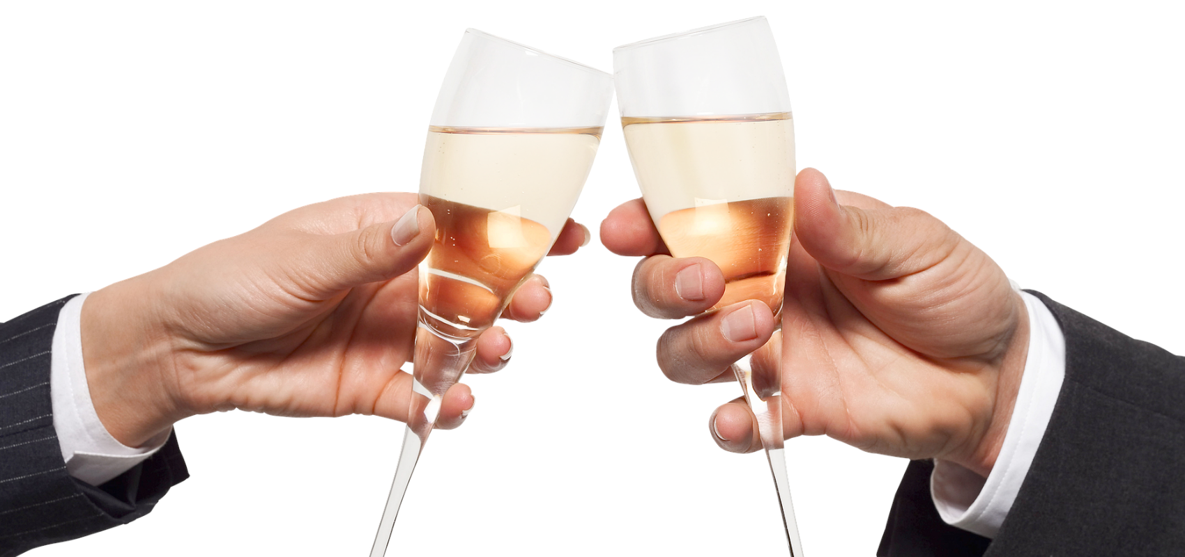 Champagne toost voor overname